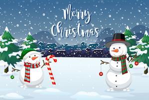 Een Kerstmis openluchtachtergrond vector