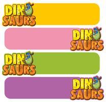 Bannermalplaatje met dinosauruseieren