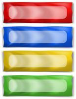 Bannermalplaatje in vier verschillende kleuren