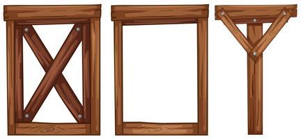 Een set houten elementen
