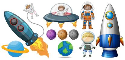 Een set van ruimte-element