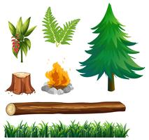 Een set boselementen