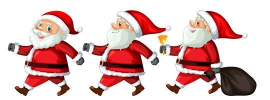 Een set van de Kerstman met verschillende actie