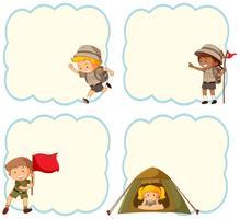 Camping kinderen lege banner