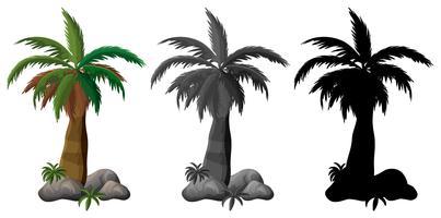 Set van palmboom ontwerp vector