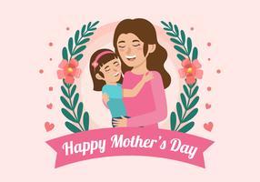 Gelukkige moederdag illustratie vector