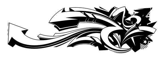 Zwart-witte graffitiachtergronden vector