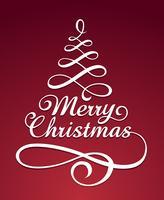 Merry christmass typografie