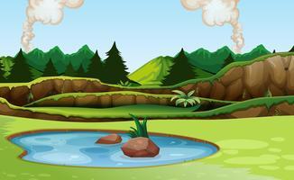Groen natuur uitzicht landschap vector