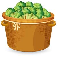 Een mandje met broccoli