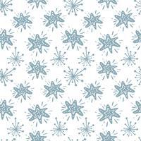 Kerst vector ster naadloze patroon in Scandinavische stijl. Beste voor kussen, typografieontwerp, gordijnen