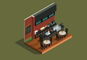 Cafe Bar isometrische stijl vector