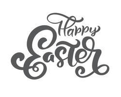 """Hand getekend """"happy Easter"""" kalligrafie belettering vector"""