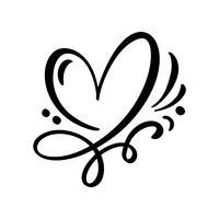 Hart liefde teken illustratie