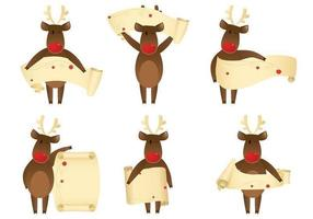 Knipende Reindeer Banner Vector Pack