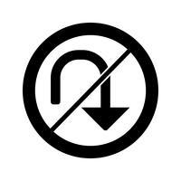 Vector Geen u-draai pictogram