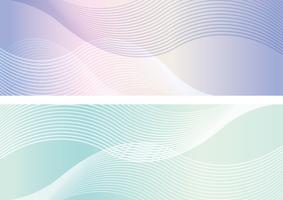Rechthoekachtergrond die met golvende patronen wordt geplaatst.