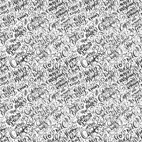 Het naadloze patroon voor Kerstmis op een witte achtergrond met bloeit vectorkerstmiselementen van kalligrafie. Mooi patroon voor een luxe cadeaupapier, t-shirts, wenskaarten