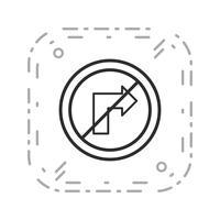 Vector Geen rechtse draai pictogram