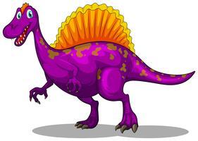 Paarse dinosaurus met scherpe klauwen