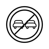 Vector inhalen verboden pictogram