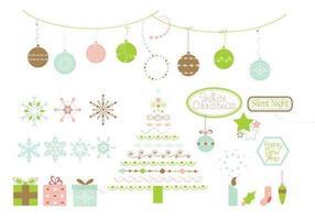 Kerst ontwerp elementen vector pakket