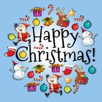 Posterontwerp met kerstthema vector