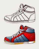 Vector schoenen sneakers