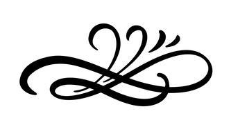 Vintage elegante scheidingslijn, swirl of hoek decoratieve versiering vector