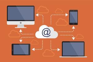 Internet downloaden vector