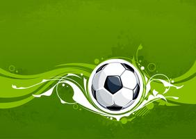 Grunge voetbal achtergrond vector