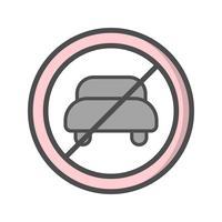 Vector Geen invoer voor motorvoertuig Icon