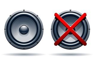 Op uit-modus luidsprekers
