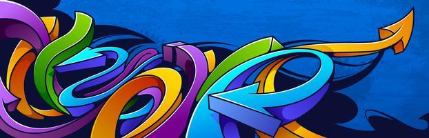 Horizontale graffitibanner vector