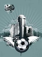 Grunge stedelijke voetbal achtergrond vector