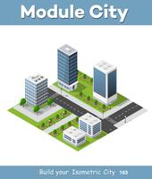 Isometrisch stadsconcept van stadsinfrastructuurzaken