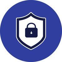 Online bescherming Vector Icon