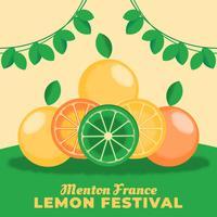 Menton Frankrijk Lemon Festival Template vector
