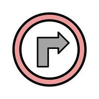 Vector Draai naar het juiste pictogram