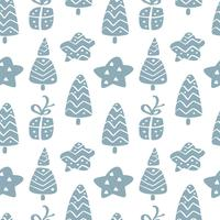 Kerst vector naadloze patroon in Scandinavische stijl. Beste voor kussen, typografieontwerp, gordijnen