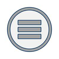 menu vector pictogram