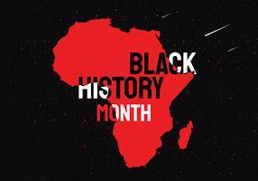 Zwarte geschiedenismaand Vector