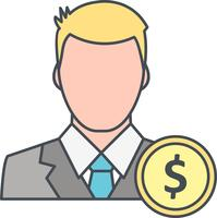 Dollar Met Man Vector Pictogram