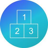 123 kubussen vector pictogram