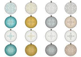 Sneeuwvlok Kerst Ornament Vector Pack