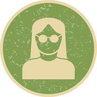 Vrouwelijke wetenschapper Vector Icon