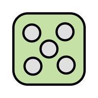dobbelstenen vijf vector pictogram