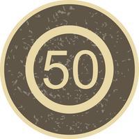 Vector Snelheidslimiet 50 pictogram