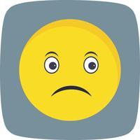 Triest Emoji Vector Icon
