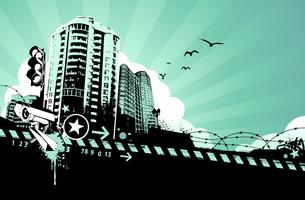 Grunge stedelijke achtergrond vector